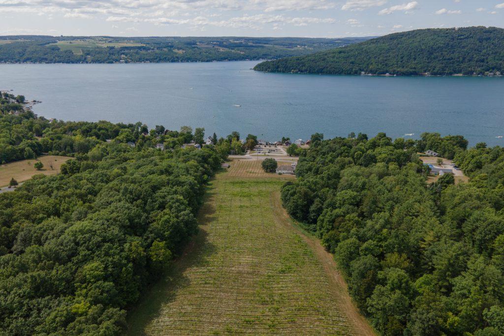 Ravines Wine Cellars overlooking Lake Keuka in the Finger Lakes Region of upstate New York.