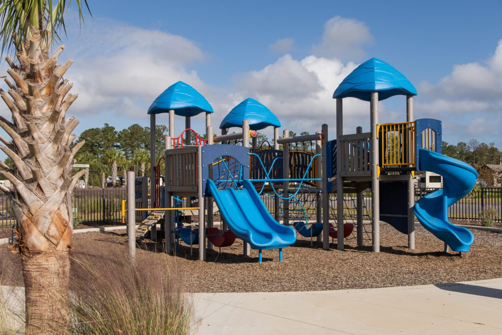 The playground area at Carolina Pines Resort in Conway, South Carolina.