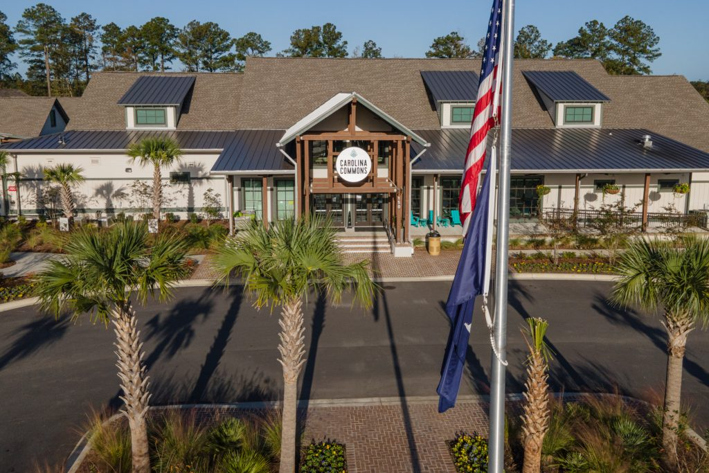 The outside of the Carolina Commons at the Carolina Pines Resort in Conway, South Carolina.
