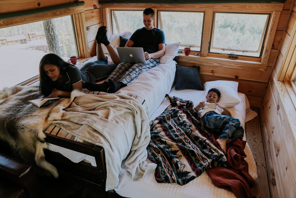 Family glamping at golden valley
