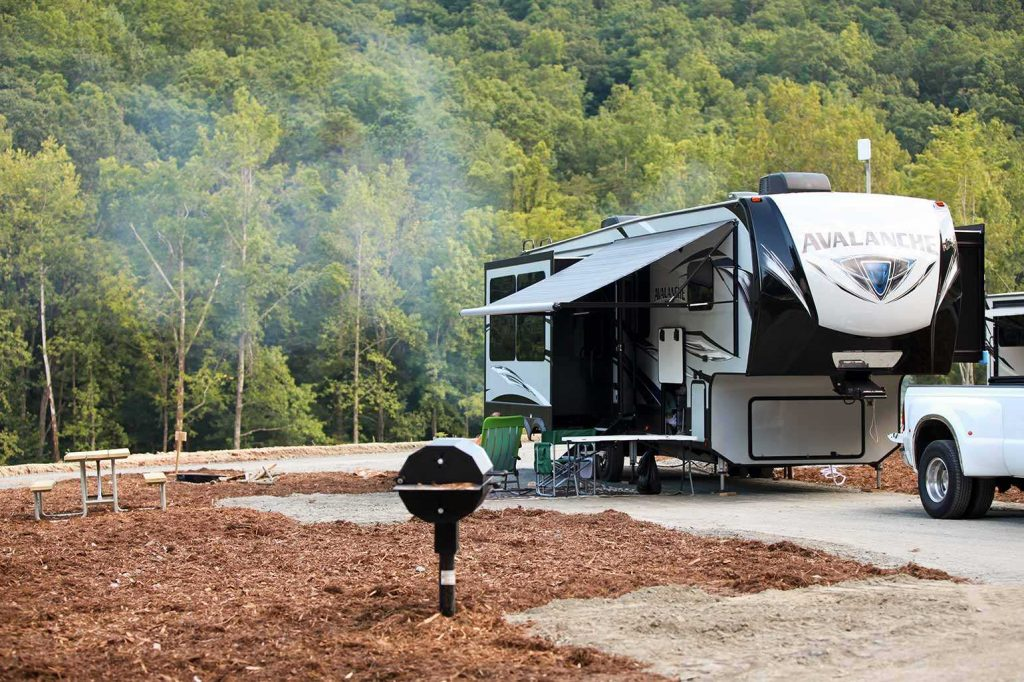 There are 7 types of campsites to choose from