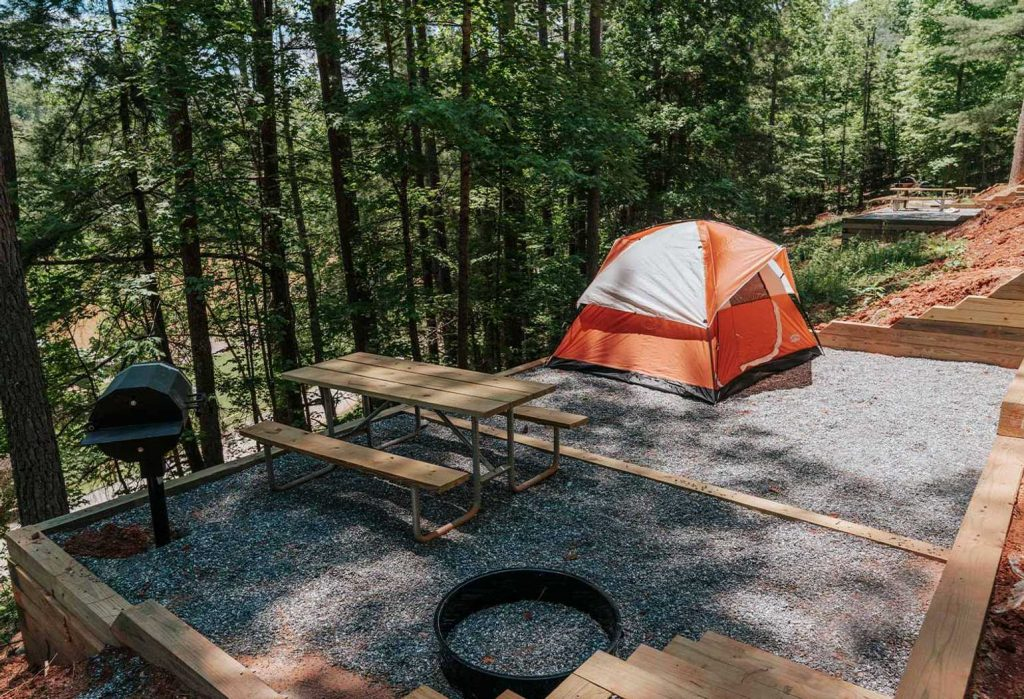 tent camping at golden valley
