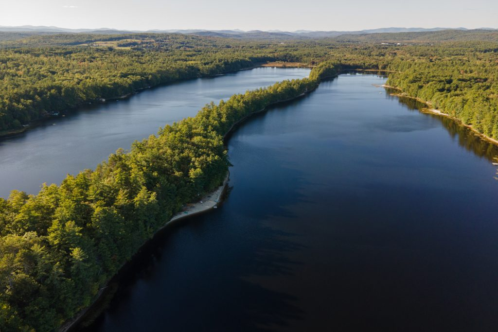 Overview of Two Lakes Camping Area in Oxford, Maine