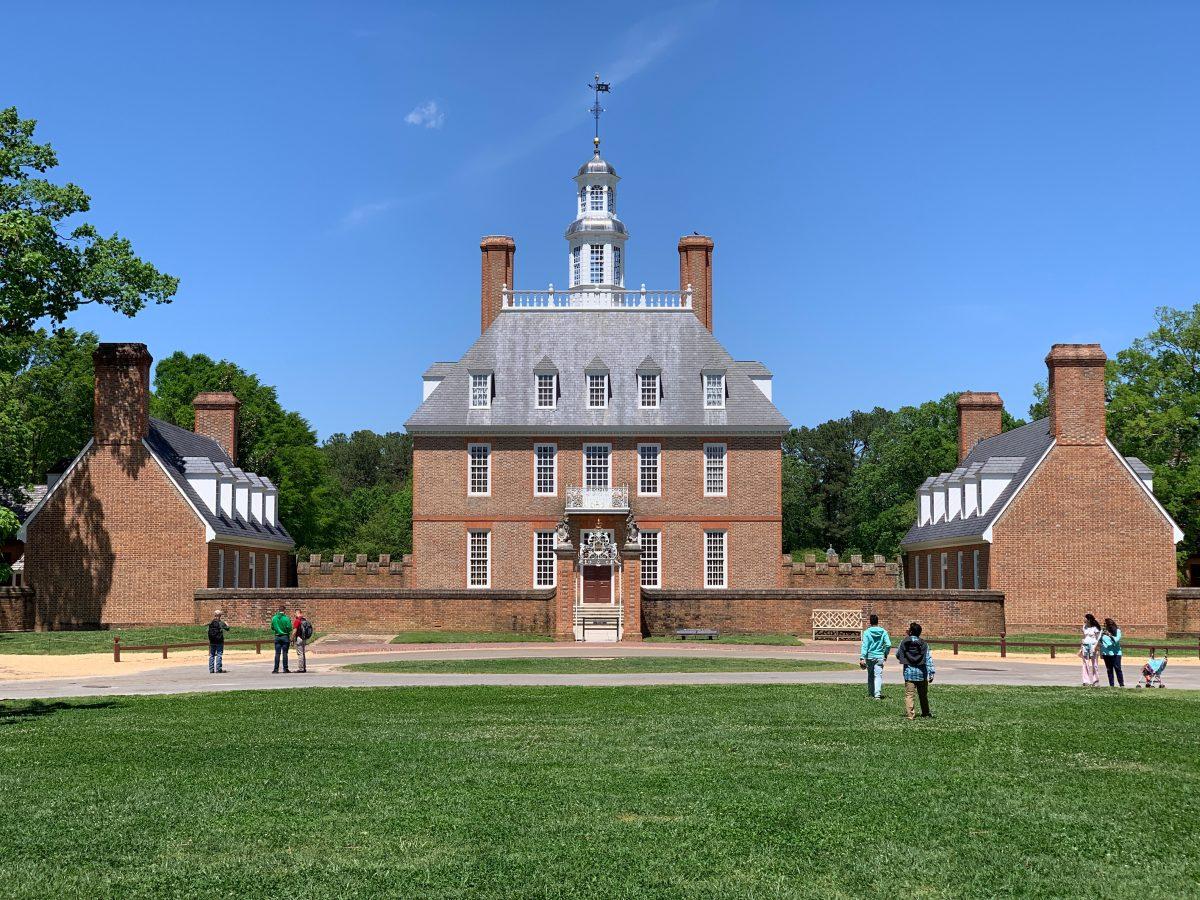 Main building at Colonial Williamsburg