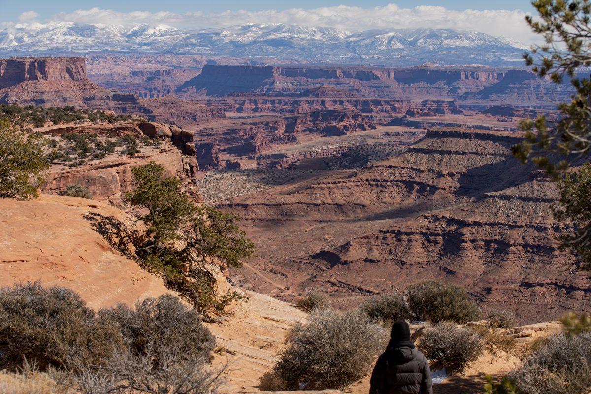 Shafer Canyon overlook at Canyonlands National Park near Moab, Utah.