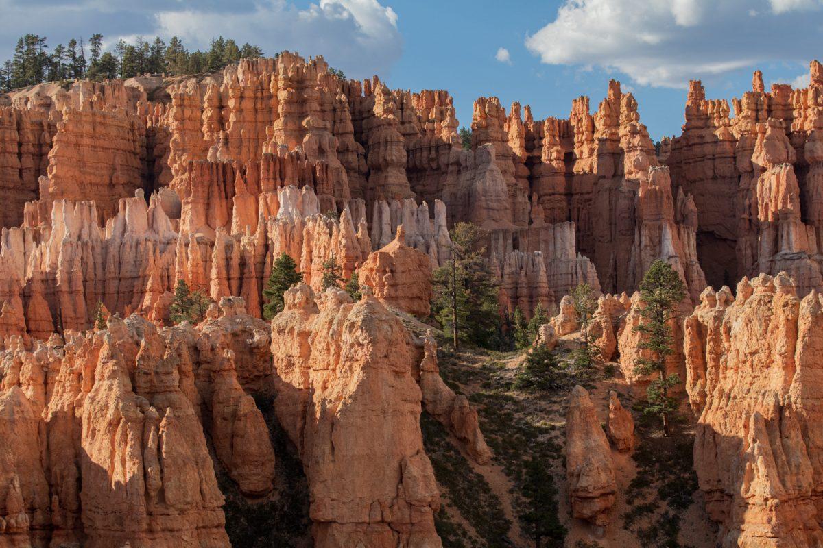 Spires in Bryce Canyon National Park in Utah.