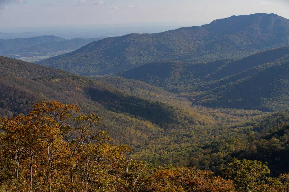 The mountains at Shenandoah National Park in Virginia.