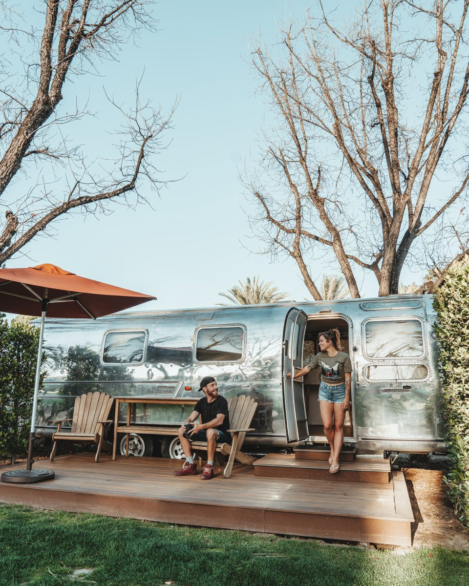 Vintage Airstream available for rent at Launch Pointe in California