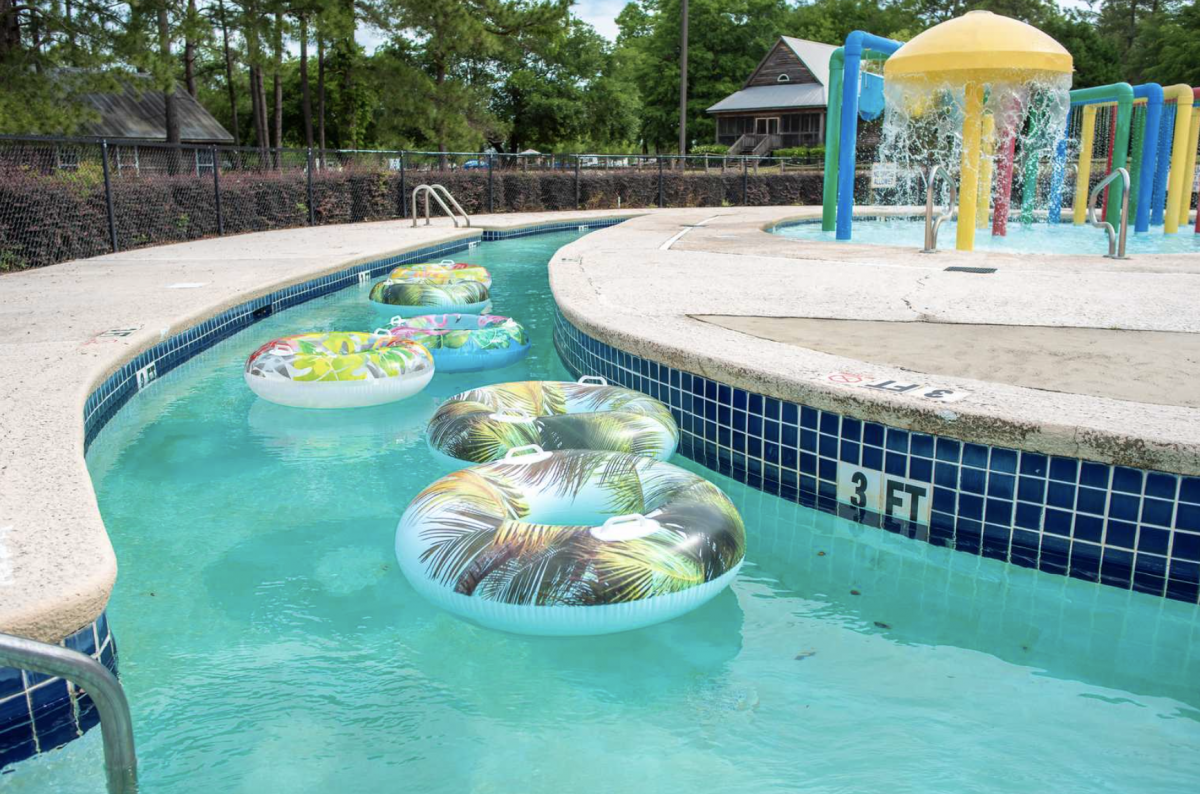 Tube floating at Palmetto Shores RV Resort