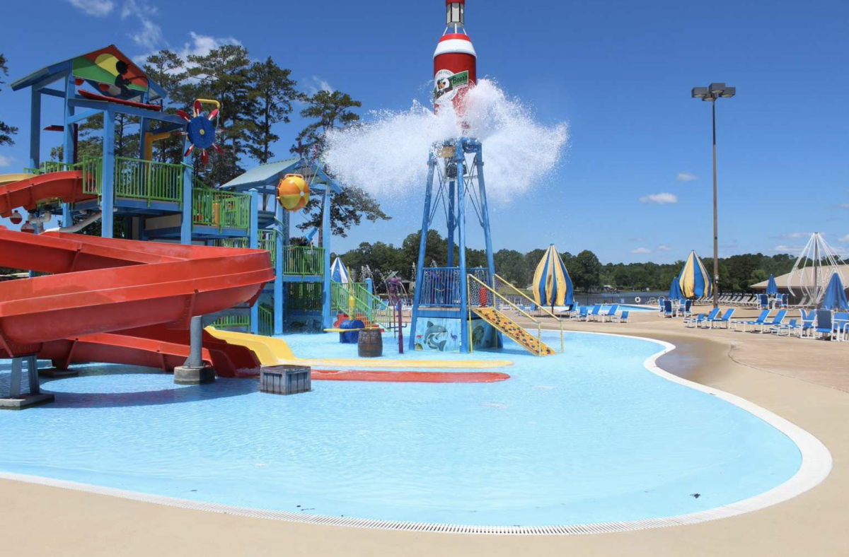 Pool and water park area at campground.