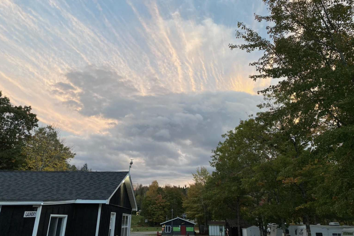 RV park and sunset at Lahave River Campground
