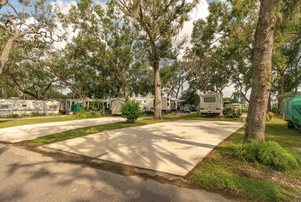 RV sites at Lake Josephine RV Resort in Sebring, Florida