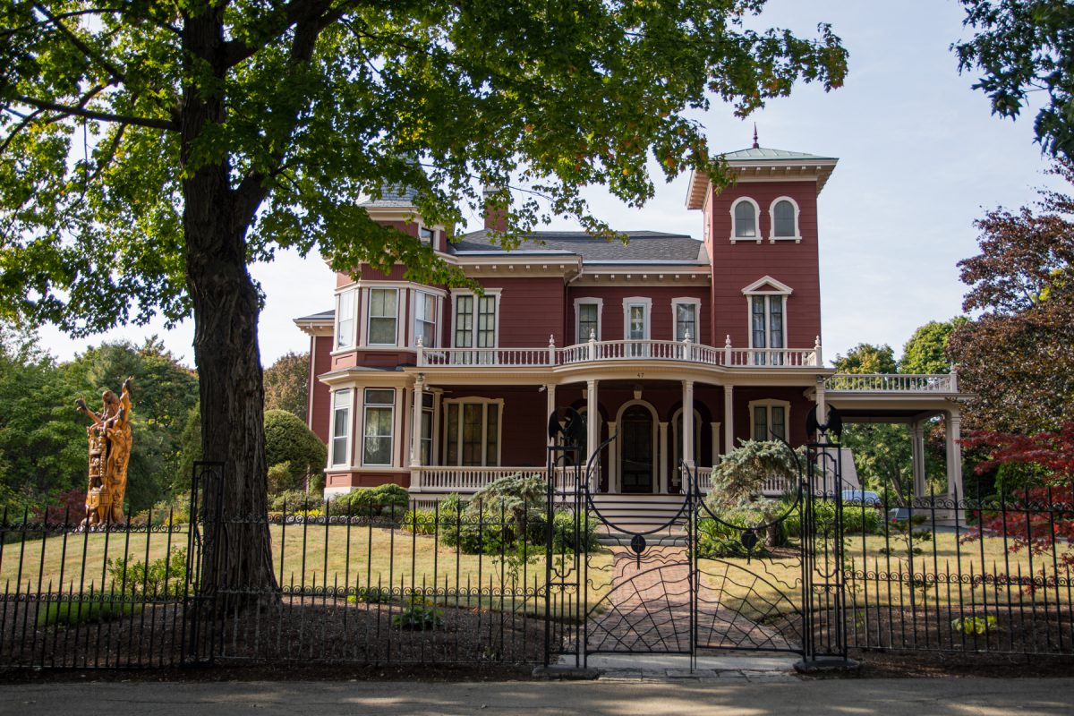 The street-view of Stephen King's mansion in downtown Bangor, Maine.