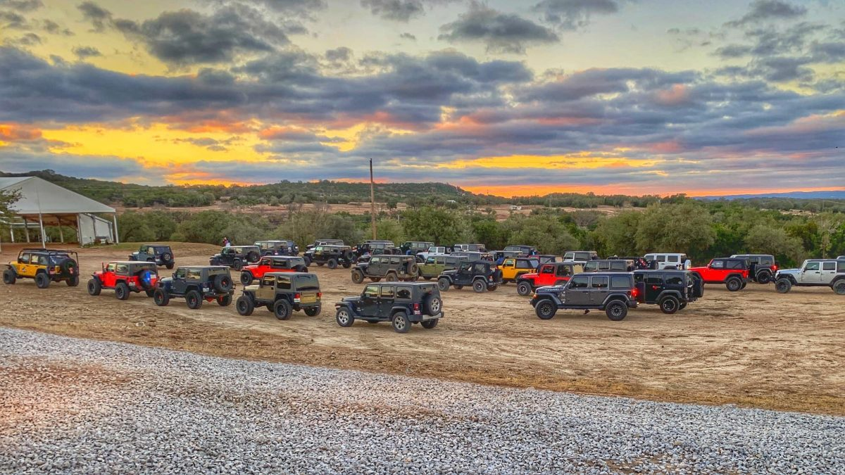 Jeeps and ATVs at Hidden Falls Adventure Park in Marble Falls, Texas.
